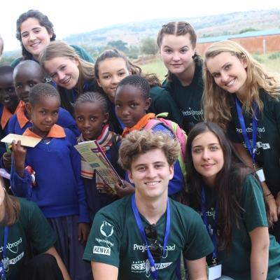 High School Special volunteers pose for a photo after a medical outreach at a school in Kenya